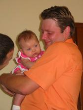 manžel s naší maličkou