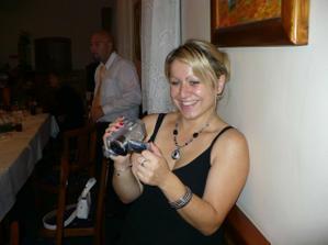 Pavlínka a kameraman v jedné osobě :-)