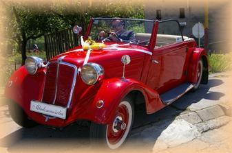 Svadobné autíčko a moj milovaný