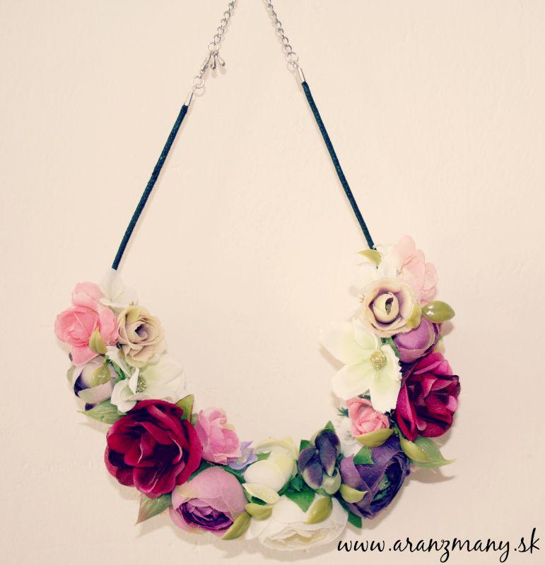 Kvetinové čelenky - kvetinový náhrdelník