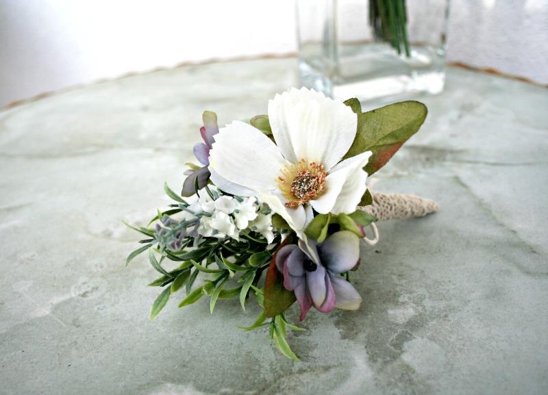 Kytica z umelých a látkových kvetov - Obrázok č. 5
