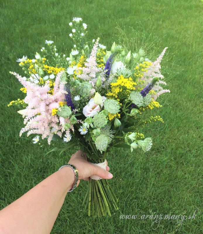 Lúčna svadba - lucna kyticka pre vilu