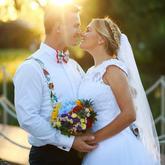 letná farebná svadba