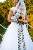 letna svadobna kytica slnecnica