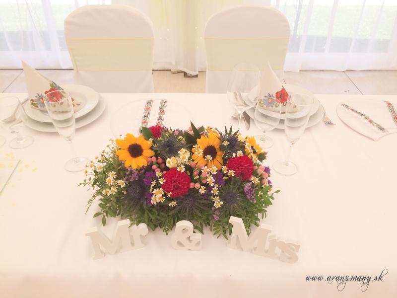 Farebná letná svadba s ľudovým motívom - Obrázok č. 4