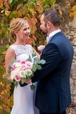 Kytica pastelove ruze na jesennej svadbe