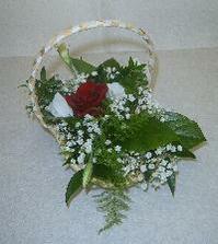 Košiček pro družičku,květiny budou růžové