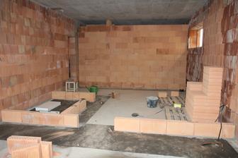 Pohled na budoucí koupelnu se saunou