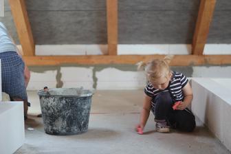 Dítě na stavbě :-D