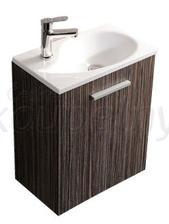 Výběr umývátka omezen šířkou-musí být co nejmenší....Toto je jeden z favoritů, jen odstín skříňky tmavý dub