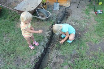 Pomocníci i při betonování