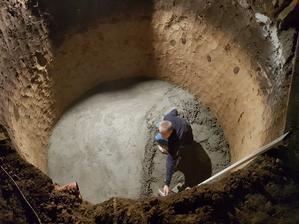Závěrečné půlnoční betonování :-D