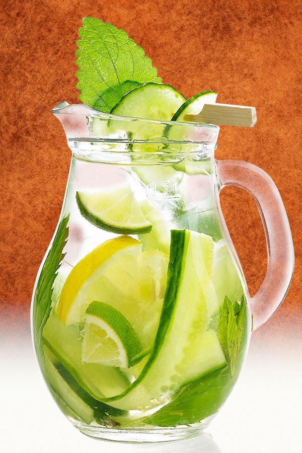 Domace limonady do Candy Baru - Uhorkovo- mätová limonáda