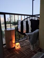 večerná pohodička na balkone
