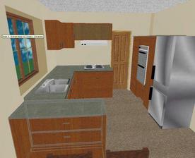 3d model - predbezny navrh kuchyne