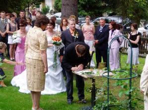 ještě podpis svědka ženicha