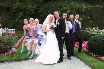 podpora nevěsty a ženicha!
