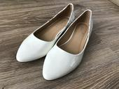 Biele elegantne balerinky , 39