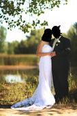 Svadobné šaty veľkosť L, 40