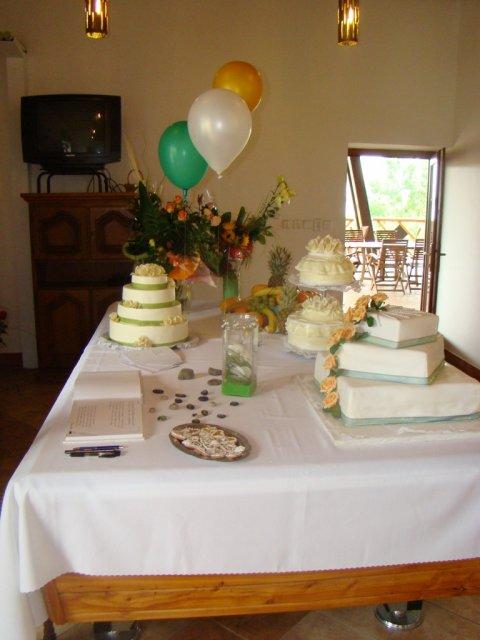 Mirka&Ivko - tortový stôl
