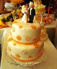 naša krásna tortička. a najmä ten falošný marcipán... hmmmmm mňam