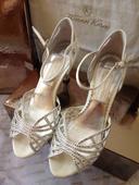 Svadobne sandalky ako pre princeznu, 37