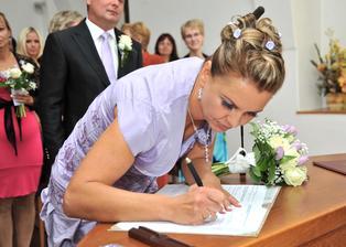 Poprvé podpis mladé paní Jiránkové