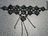 Černý náhrdelník - skladem,