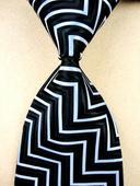 Černobílá kravata - skladem,