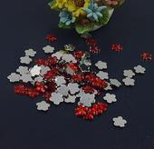 Červené kytičky - dekorace,