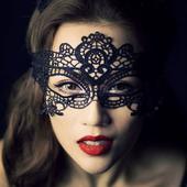 Krajková maska - skladem,