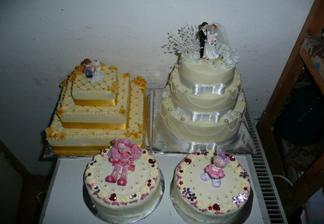 Naše tortičky, ešte v chlade :)