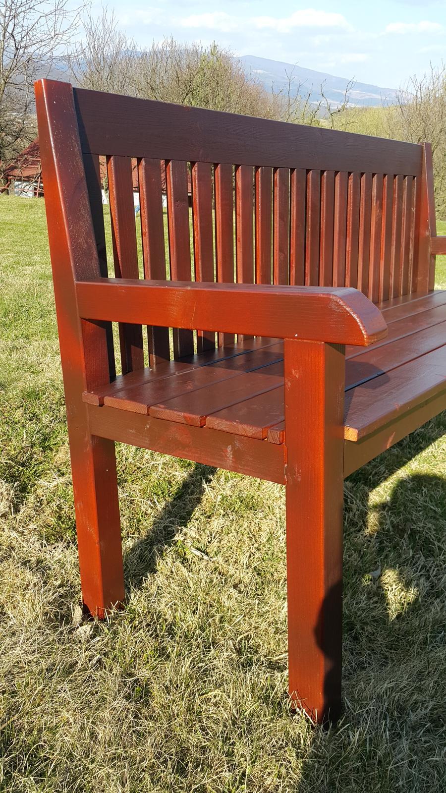 Drevo a veci okolo - Záhradná handmade lavička