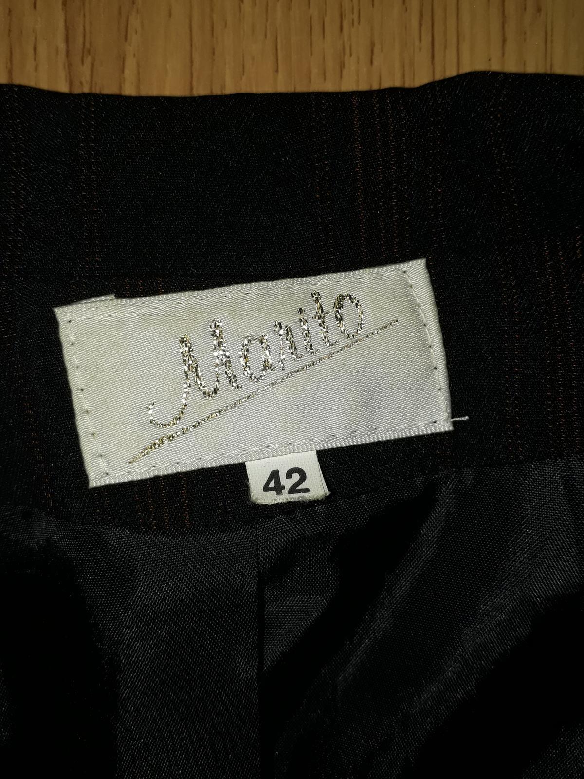 dámský kalhotový kostým s oranžovým proužkem 40/42 - Obrázek č. 4