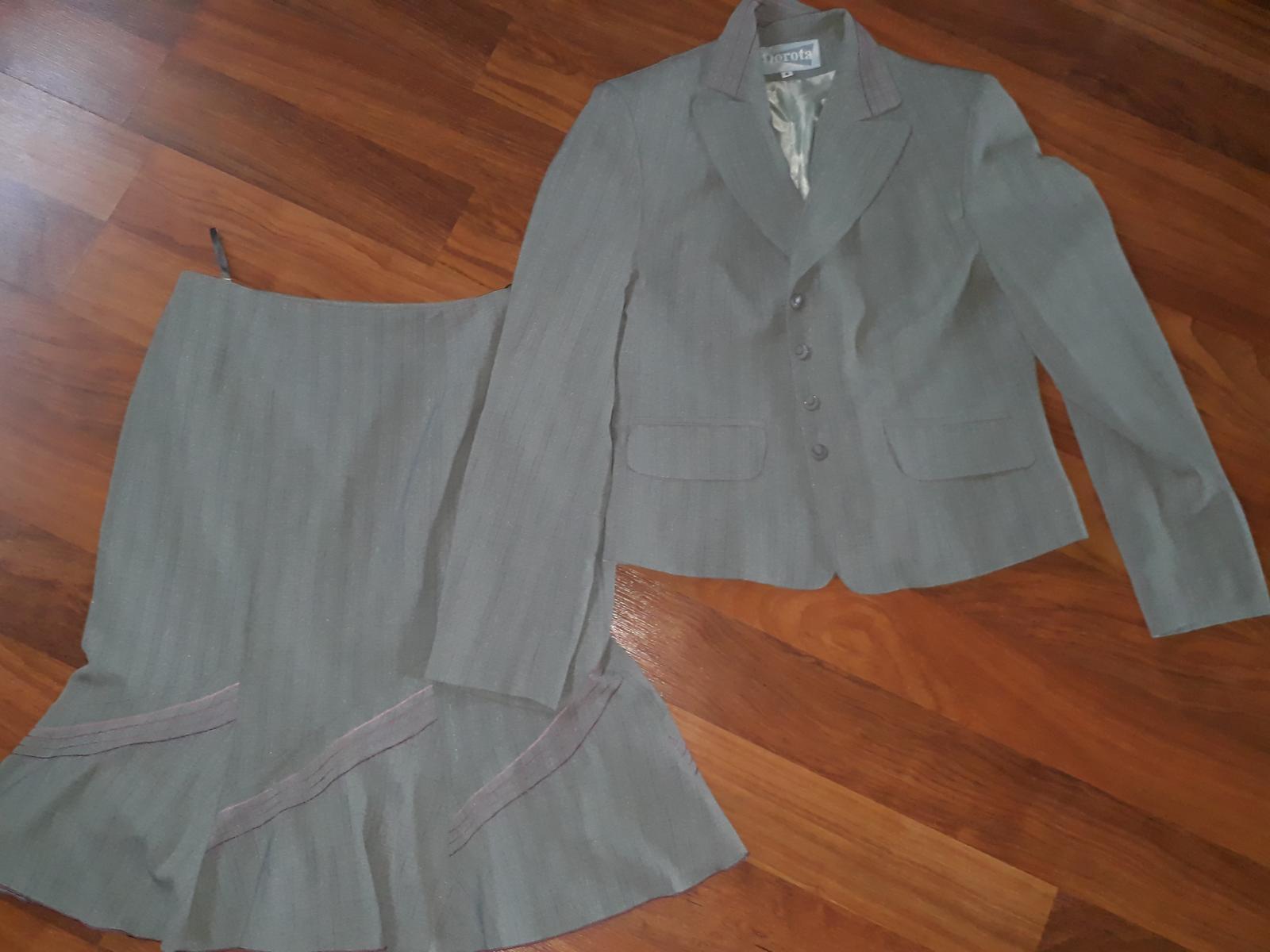 dámský kostým sukně a sako, vel 40 - Obrázek č. 1