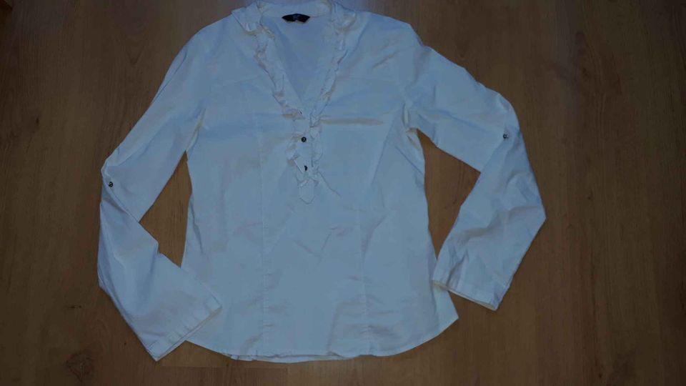 Bílá košile přes hlavu, F&F, vel 40 - Obrázek č. 1