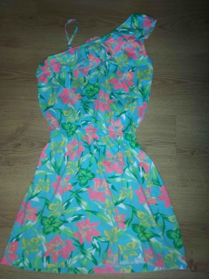 Dívčí šaty na jedno rameno, vel 128/134 - Obrázek č. 1