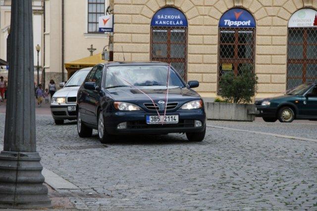 Veronika Pospíšilová{{_AND_}}Petr Malý - auto ženicha