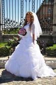Jedinečne svadobné šaty s ružami , 34