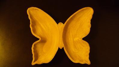 a dřevěného motýla pro dekorace...