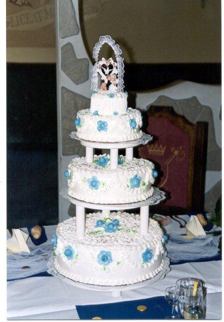 Svatební dorty - třípatrový