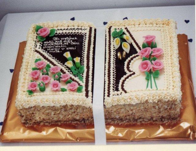 Svatební dorty - Dort kniha
