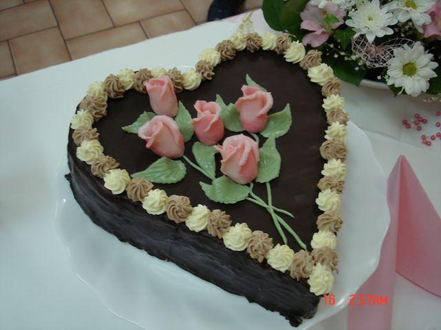 Svatební dorty - srdce