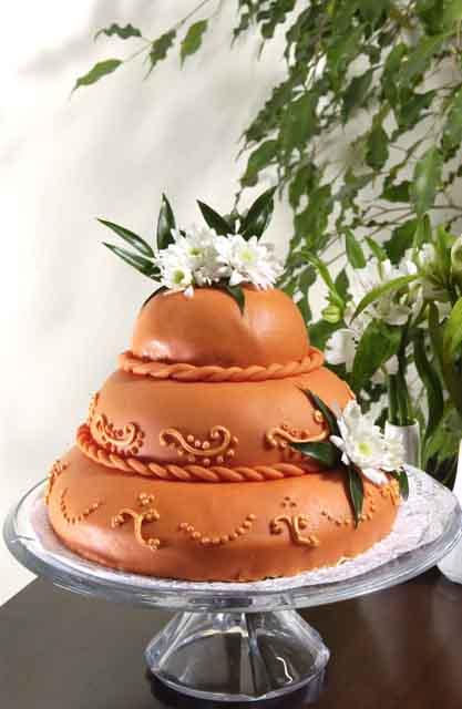 Svatební dorty - marcipanovy
