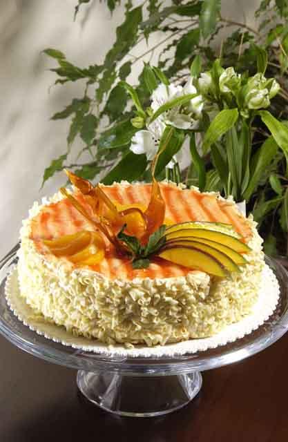 Svatební dorty - ovocny