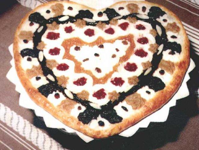 Svatební dorty - kynute srdce
