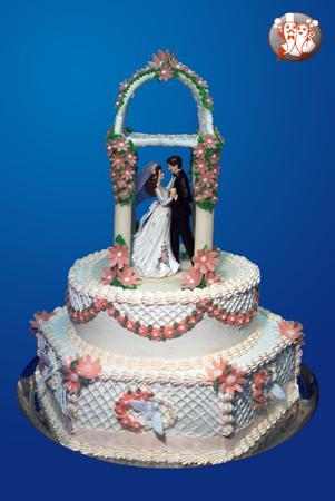 Svatební dorty - altanek