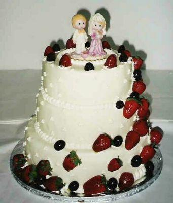 Svatební dorty - jahodovy