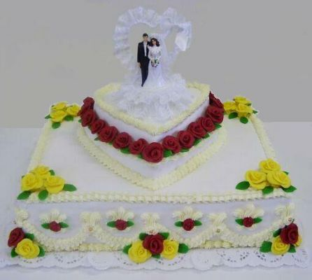 Svatební dorty - kostka