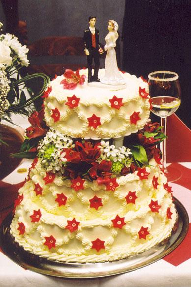 Svatební dorty - patrový
